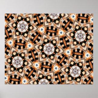 Abstraktes Kaleidoskop Poster