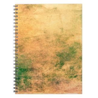 Abstraktes Kunst-Grün und BrownGrunge Notizblock