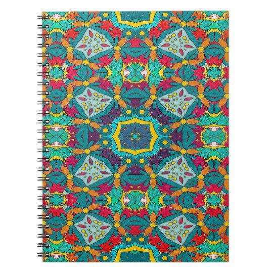 Abstraktes Kunst-Mosaik-Muster Notizblock