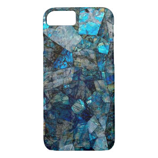 Abstraktes Labradorit-Edelstein-Mosaik-Kasten iPhone 8/7 Hülle