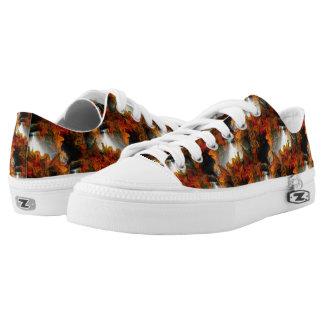 Abstraktes Licht-und Farbmuster Niedrig-geschnittene Sneaker