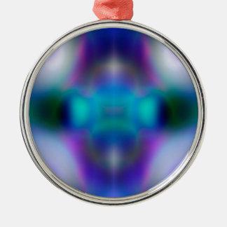 Abstraktes lila Muster Silbernes Ornament