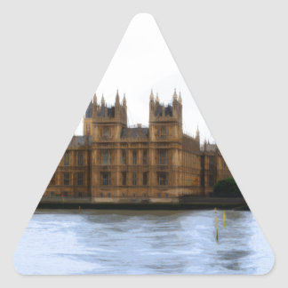 abstraktes London - Westminster Dreieckiger Aufkleber
