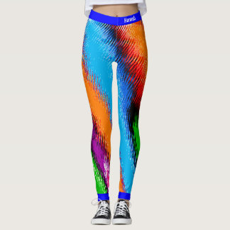 Abstraktes mehrfarbiges leggings