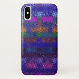 Abstraktes Mosaik-Glas-Muster iPhone X Hülle