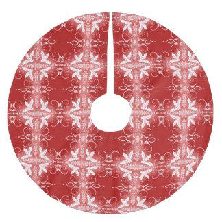 Abstraktes Muster der roten Weihnachtsdekorativen Polyester Weihnachtsbaumdecke