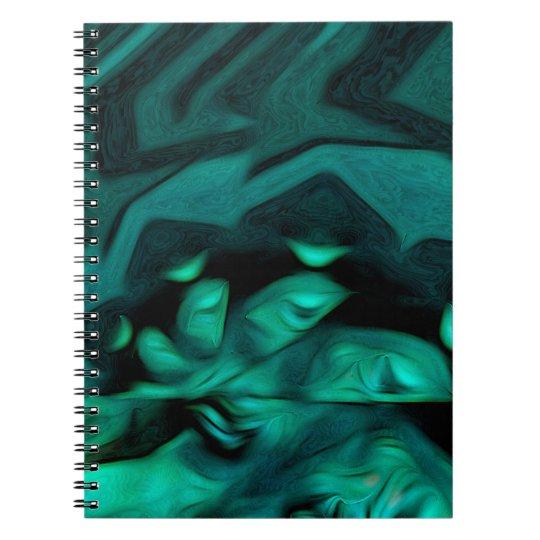 Abstraktes Muster-Grün Spiral Notizblock