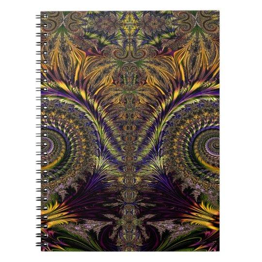 Abstraktes Muster lila und Brown Notizbücher