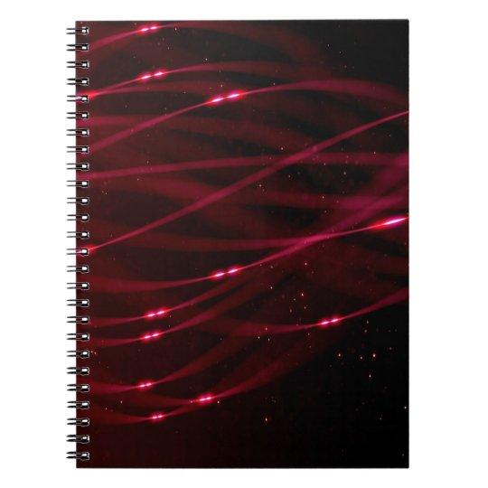 Abstraktes Muster lila und Glitter Spiral Notizblock