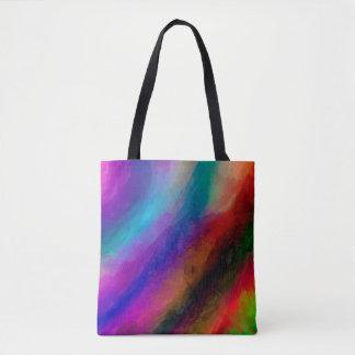 Abstraktes Muster-multi Farben hell Tasche