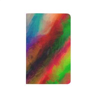 Abstraktes Muster-multi Farben hell Taschennotizbuch