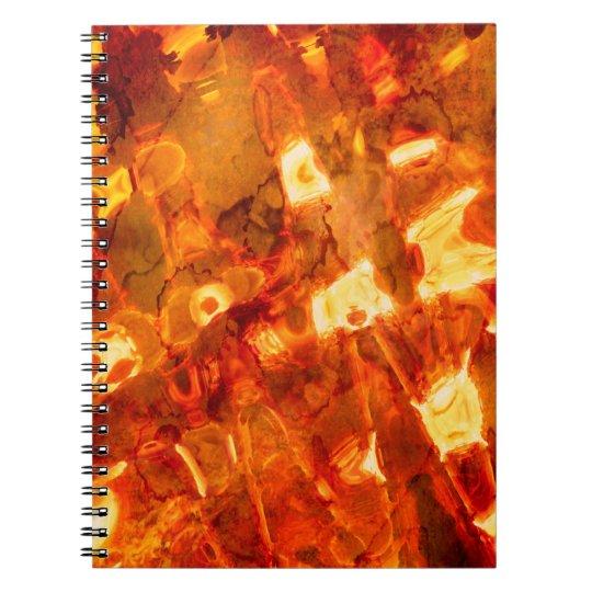 Abstraktes Muster-orange Lichteffekt Notiz Buch