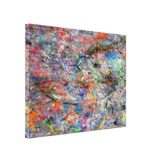 Abstraktes Neon färbt Galerie Faltleinwand