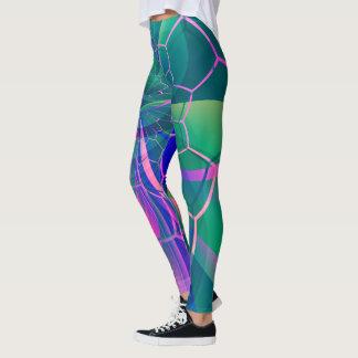 Abstraktes Netz-buntes geometrisches Leggings