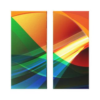 Abstraktes orange Grün Leinwanddruck