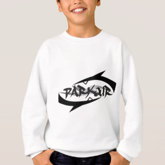 Abstraktes Parkour Sweatshirt