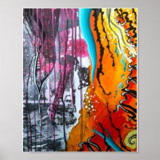 Abstraktes Plakat