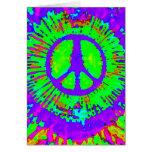 Abstraktes psychedelisches Krawatten-Friedenszeich Karten