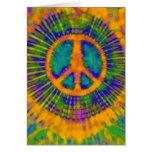 Abstraktes psychedelisches Krawatten-Friedenszeich Grußkarten