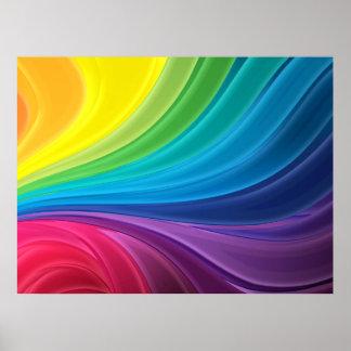 Abstraktes Regenbogen-Plakat Poster