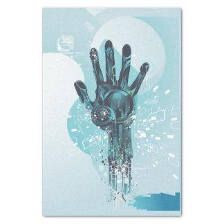 Abstraktes Roboter-Handseidenpapier Seidenpapier