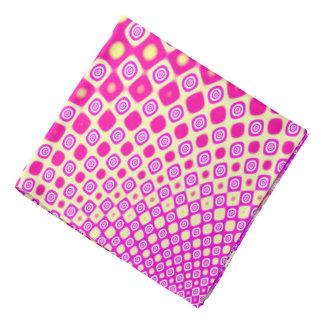 Abstraktes rosa und weißes Muster Halstücher