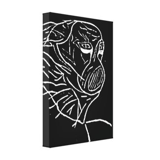 "Abstraktes ""verdecktes Monster "" Gespannter Galeriedruck"