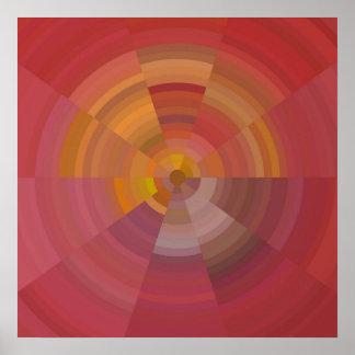 Abstraktes Verzierungsplakat Poster
