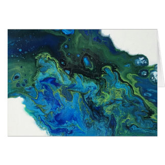 Abstraktes Wasser Karte