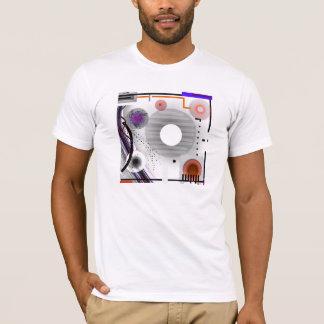 Abstraktes Wearable Kunst-Grau quadriert T-Shirt