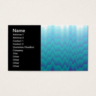 Abstraktes Wellen-Türkis-Blau Visitenkarte