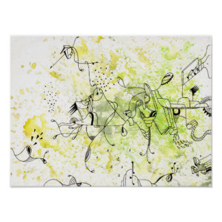 abstraktes Zeichnen des Summens Poster