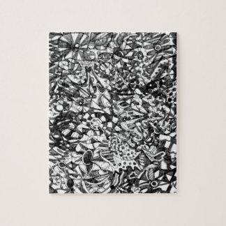 Abstraktes zeichnendes Puzzlespiel