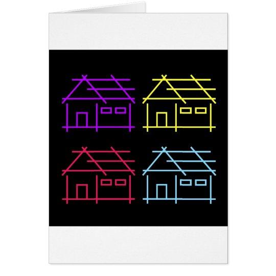 Abstraktes Zuhause für wirkliches Anwesen- oder Grußkarte