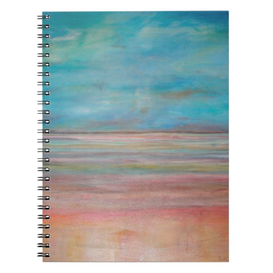 Abstraktions-Kunst-Reflexion auf Ruhe Notizbuch