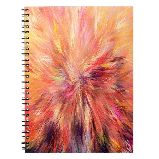 Abstraktions-Kunst-Rosa-Farbe Notizblock