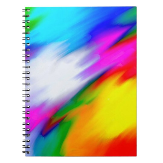 Abstraktions-multi Farbhelle Beschaffenheit Notizblock