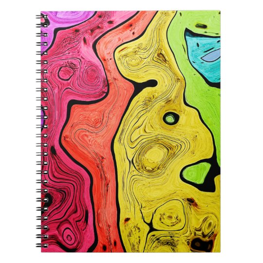 Abstraktions-Muster-Konturn-Art hell und Farbe Notizblock
