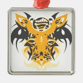 Abstraktionzehn Nemesis Quadratisches Silberfarbenes Ornament
