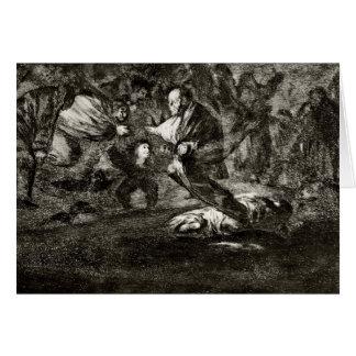 Absurditätsbegräbnis Francisco Goya- Karte