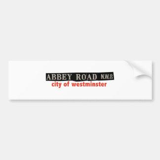 Abtei-Straße Westminster Autoaufkleber