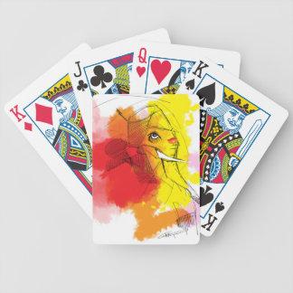abtract Ganesha Malereien Bicycle Spielkarten