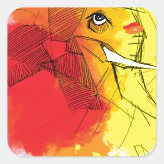 abtract Ganesha Malereien Quadratischer Aufkleber