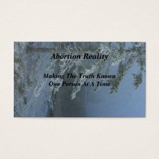Abtreibungs-Wirklichkeits-Visitenkarten Snowy Visitenkarten