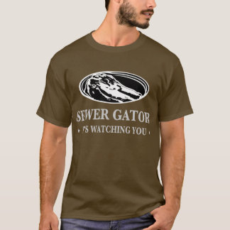 Abwasserkanal-Alligator T-Shirt