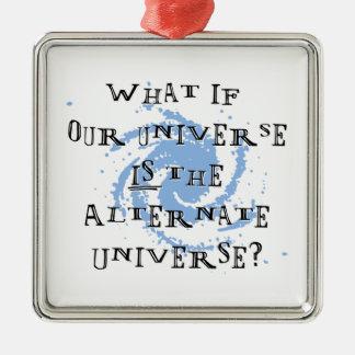 Abwechselndes Universum Silbernes Ornament