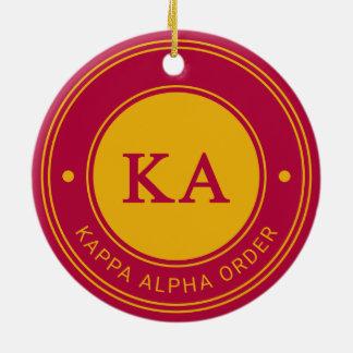 Abzeichen des Kappa-Alpha Auftrags-| Keramik Ornament