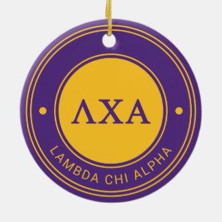 Abzeichen des Lambda-Chi-Alpha-| Keramik Ornament