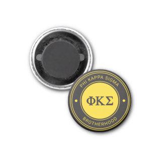 Abzeichen des Phi-Kappa-Sigma-  Runder Magnet 2,5 Cm
