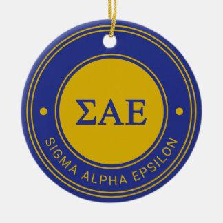 Abzeichen des Sigma-Alpha Epsilon-| Keramik Ornament